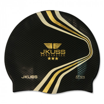 JKUSS AJ-04C Black Swim Cap